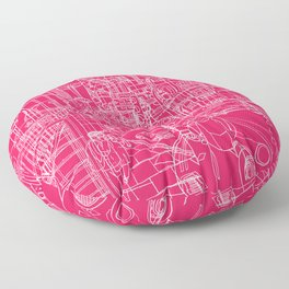 London! Hot Pink Floor Pillow