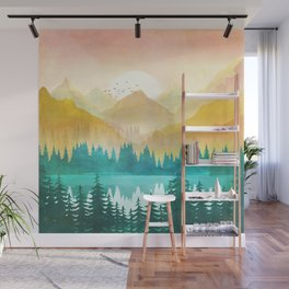 Summer Mountain Sunrise Wall Mural