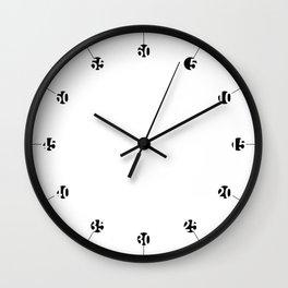 Hole numbers Wall Clock