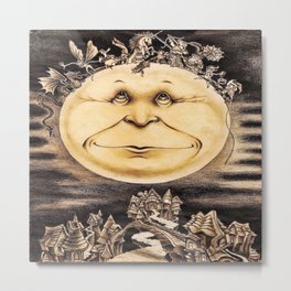 Mind Of The Moon Metal Print