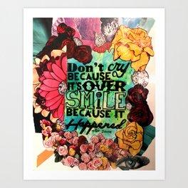 Love Quote (flowers diamonds wisdom) Art Print