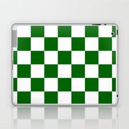 Checkered - White and Dark Green Laptop & iPad Skin