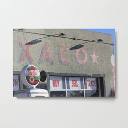 Texaco Oil - Tucumcari, New Mexico (1) Metal Print