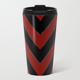 OU inspired Chevron Travel Mug