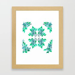Blue Coralline Flowers Framed Art Print