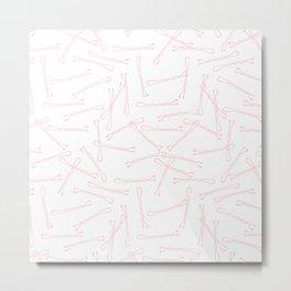 BOBBY PINS ((pastel pink)) Metal Print