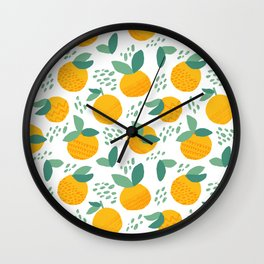 Creative citrus print. Add some vitamins to your life! :) Wall Clock