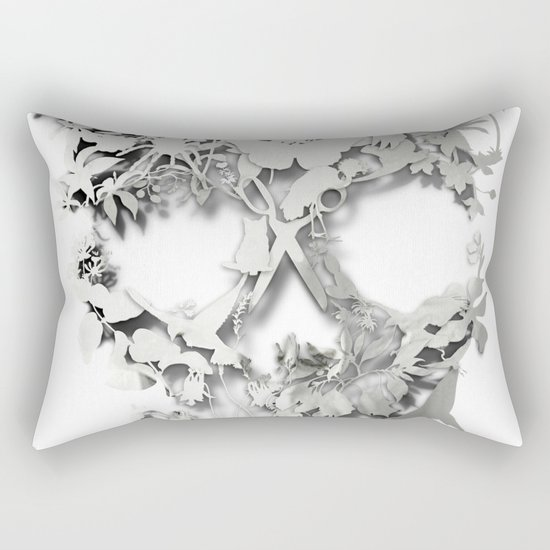 Simple Skull Rectangular Pillow