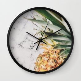 Pineapple Marble Wall Clock