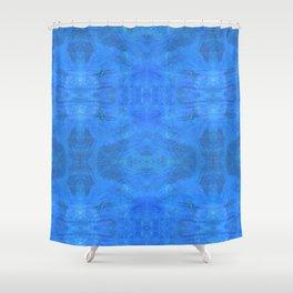 Aztec in blue Shower Curtain