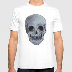 Skull Mens Fitted Tee MEDIUM White