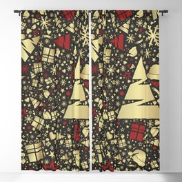 illustrations holidays christmas star gift Blackout Curtain