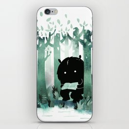 A Quiet Spot (in green) iPhone Skin
