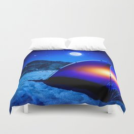 West side Camping Duvet Cover