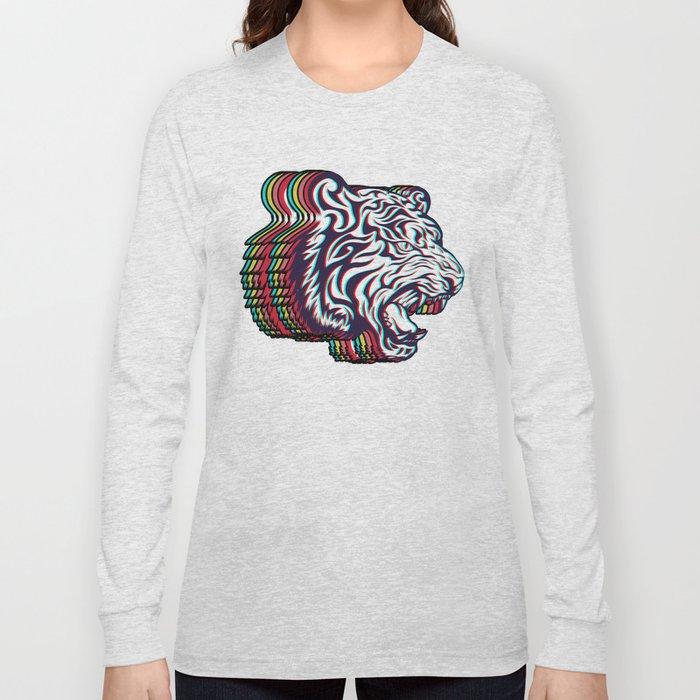 3D Tiger Long Sleeve T-shirt