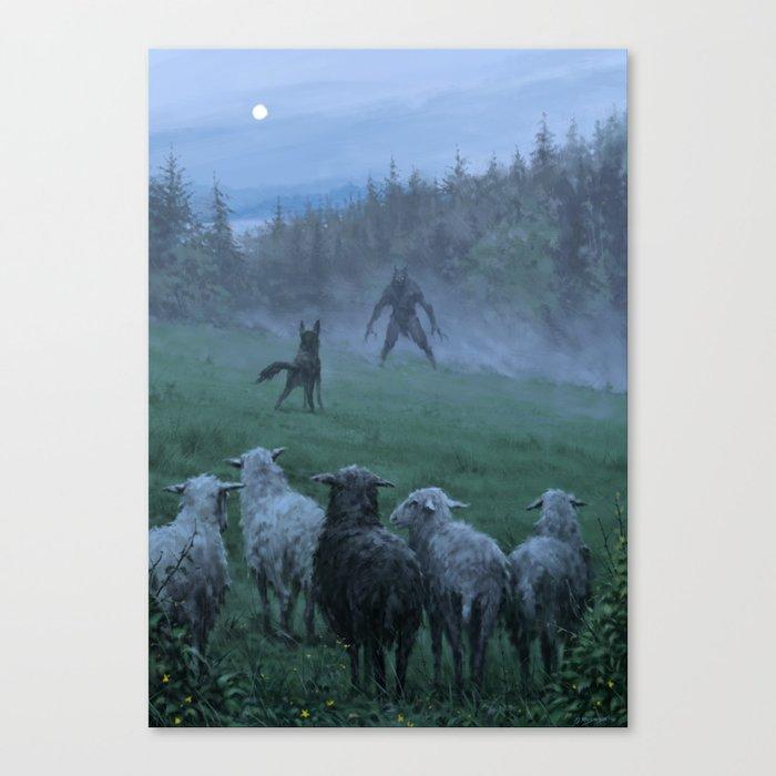 Shepherd and his faithful dog Leinwanddruck