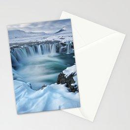 Falls Keflavik Iceland Stationery Cards