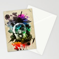 skull explosion Stationery Cards