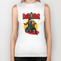 comic Biker Tanks featuring Doctor Comic by harebrained