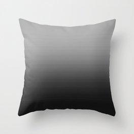 Gray Black Ombre Throw Pillow