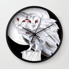 Mutant Owls Wall Clock