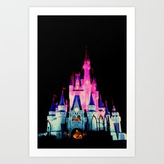 disney castle Art Print