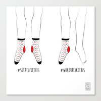 socks Canvas Prints featuring Socks by 366noodles + some other stuff