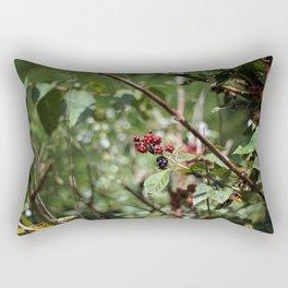 Bushes of Fresh Blackberries Rectangular Pillow