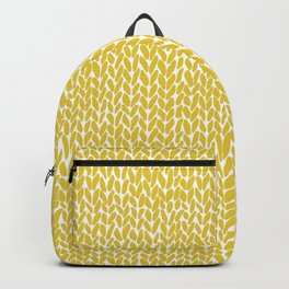 Hand Knit Yellow Backpack
