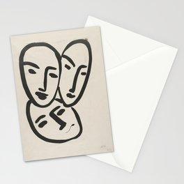 Apollinaire, Matisse, Rouveyre (Trois têtes. A l'amitié) Stationery Cards