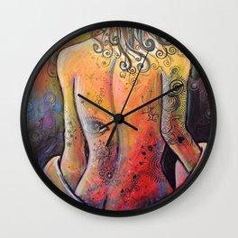 Abstract Art Original Nude Woman Girl Painting ... The Company You Keep Wall Clock