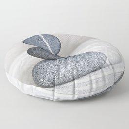 Zen cairn pebble stone balance grey Floor Pillow