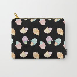Pastel Melted Ice Cream (Black) Carry-All Pouch