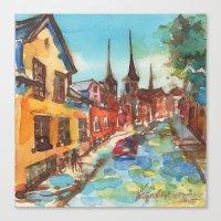 denmark Canvas Prints featuring Roskilde, Denmark by Yevgenia Watts