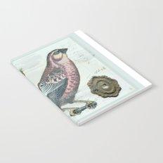 Vintage boho and bird Notebook