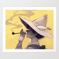 moomin Art Prints featuring Schnupferich by Hika