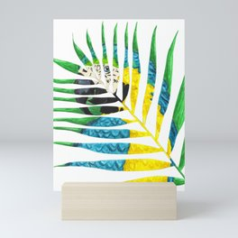 Parrot Palm Leaf Mini Art Print