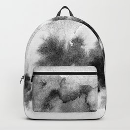 MINIMAL BLACK AND WHITE SPLATTER PATTERN Backpack