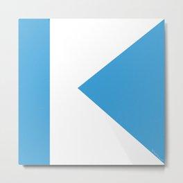 K on blue Metal Print
