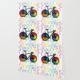 Rainbow raindrops Wallpaper