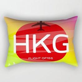 HKG Hong Kong airport code Rectangular Pillow