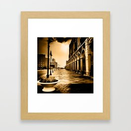 Lightning Strikes in the Darkest Places  Framed Art Print