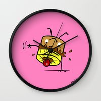 Pineapple Upside Down Cake Wall Clock
