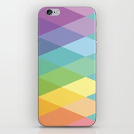 Geometric Rainbow Triangles iPhone Skin