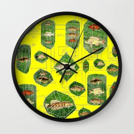 I KEEP MY FISH CIRCUITRY IN THE SUN Wall Clock