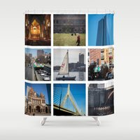 boston Shower Curtains featuring Boston by Jill Deering