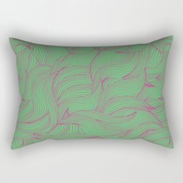 Abstract coorful pattern with leaves Rectangular Pillow