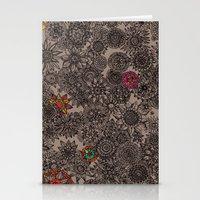 flower pattern Stationery Cards featuring Flower Pattern by Aubree Eisenwinter