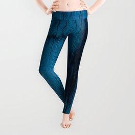 Beautiful Unique mahogany blue wood veneer design Leggings