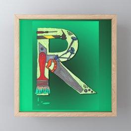 R Handyman Framed Mini Art Print